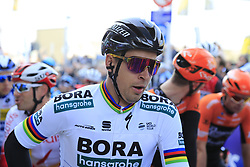 Slovakian National Champion Peter Sagan (SVK) Bora-Hansgrohe waits for the start of the 2019 Ronde Van Vlaanderen 270km from Antwerp to Oudenaarde, Belgium. 7th April 2019.<br /> Picture: Eoin Clarke | Cyclefile<br /> <br /> All photos usage must carry mandatory copyright credit (© Cyclefile | Eoin Clarke)