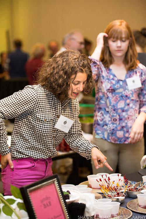 BLACKBERRY + CHERRY<br />Showcase: &lsquo;Triple Crown&rsquo; and &lsquo;Black Diamond&rsquo; blackberry and &lsquo;Regina&rsquo; cherry<br />Researcher: Javier Fernandez-Salvador, Oregon State University<br />Bartendress: Lydia Reissmueller, tenderBAR<br />Drink 1: Triple Black Diamond<br />Drink 2: Regina Sparkle