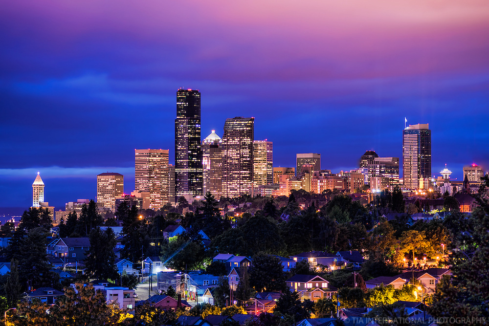 Seattle @ Twilight in May