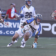 Davey Emala #25 of the Charlotte Hounds is seen during the game at Harvard Stadium on May 17, 2014 in Boston, Massachuttes. (Photo by Elan Kawesch)