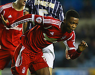Picture by David Horn/Focus Images Ltd +44 7545 970036<br /> 03/12/2013<br /> Nathaniel Chalobah of Nottingham Forest celebrates scoring his team's second goal to make it 2-2 during the Sky Bet Championship match at The Den, London.