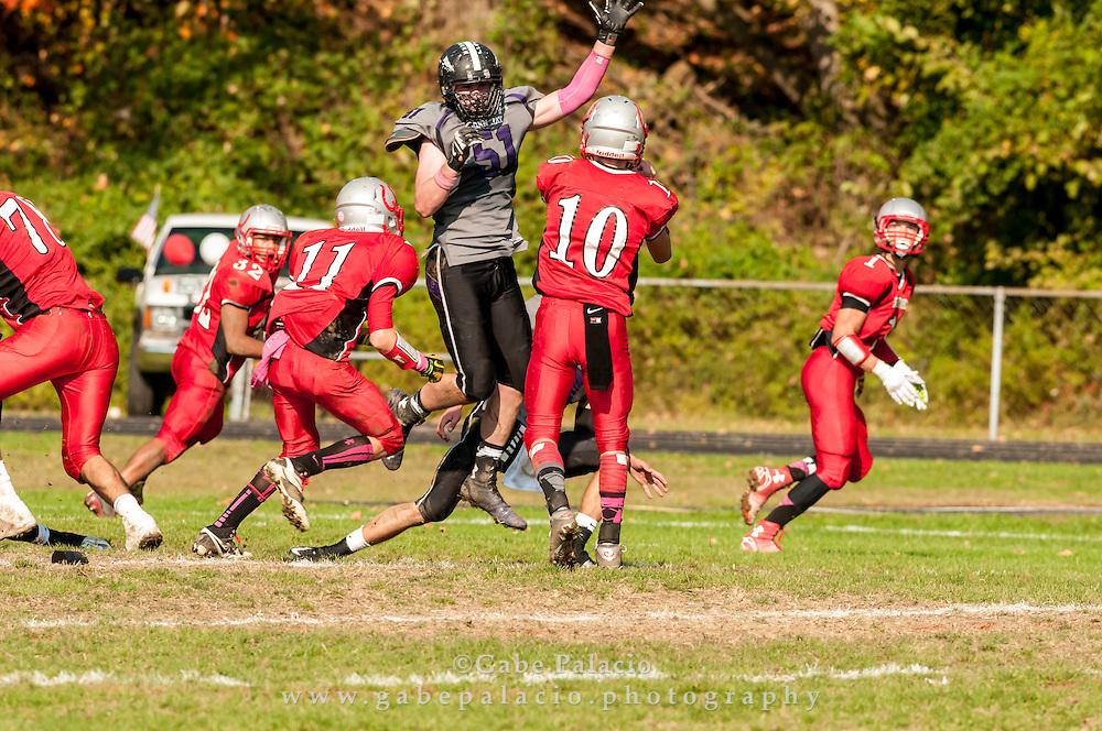 John Jay Varsity Football game at Sleepy Hollow on October 25, 2014. (photo by Gabe Palacio)