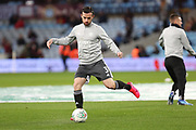 Ben Chilwell warms up ahead of the EFL Cup Semi-Final match between Aston Villa and Leicester City at Villa Park, Birmingham, England on 28 January 2020.