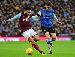 Robert Snodgrass of Aston Villa competes with George Boyd of Sheffield Wednesday  - Mandatory by-line: Nizaam/Jones - 04/11/2017 - FOOTBALL - Villa Park - Birmingham, England - Aston Villa v Sheffield Wednesday - Sky Bet Championship