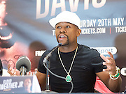 Floyd Mayweather Jr & Frank Warren press conference at The Savoy Hotel, London, Great Britain <br /> 7th March 2017 <br /> <br /> Floyd Joy Mayweather Jr. is an American former professional boxer who competed from 1996 to 2015 and currently works as a boxing promoter. <br /> 