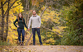 Laura & Pawel's autumn engagement shoot at Ancaster Mill