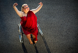 Photo session with disabled dancer Nastija Fijolic of Slovenia, on July 10, 2017 in Koper / Capodistria, Slovenia. Photo by Vid Ponikvar / Sportida