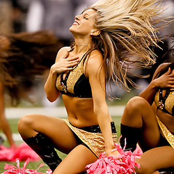 October 3, 2010; New Orleans, LA, USA; New Orleans Saints Saintsations cheerleaders perform during the second half of a game between the New Orleans Saints and the Carolina Panthers at the Louisiana Superdome. The Saints defeated the Panthers 16-14. Mandatory Credit: Derick E. Hingle