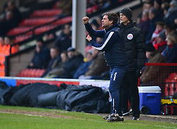 Bristol Rovers manager Darrell Clarke gives his players directions during the first haf. - Mandatory by-line: Alex James/JMP - 21/01/2017 - FOOTBALL - Banks's Stadium - Walsall, England - Walsall v Bristol Rovers - Sky Bet League One