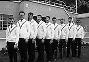 Garda Rowing Club with Gaeltarra Eireann Sweaters.<br /> 30.09.1967