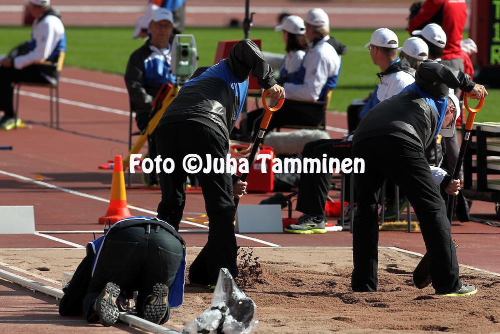 28.6.2012, Olympiastadion - Olympic Stadium, Helsinki, Finland..European Athletics Championship - Yleisurheilun EM-kisat..Pituushyppypaikka.
