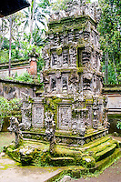 Bali, Bangli, Pura Kehen. A so-called padmasana, a shrine, with intricate carvings.