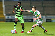Forest Green Rovers Isaiah Osbourne(34) runs forward during the EFL Sky Bet League 2 match between Yeovil Town and Forest Green Rovers at Huish Park, Yeovil, England on 24 April 2018. Picture by Shane Healey.