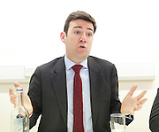 Andy Burnham MP and Luciana Berger MP speech to launch Labour&rsquo;s public health policy at Demos, London, Great Britain <br /> 15th January 2015 <br /> <br /> Andy Burnham MP <br /> shadow Labour Health Minister <br /> <br /> <br /> <br /> <br /> <br /> Photograph by Elliott Franks <br /> Image licensed to Elliott Franks Photography Services