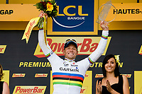CYCLING - TOUR DE FRANCE 2011 - STAGE 16 - Saint-Paul-Trois Châteaux > Gap (162,5km) - 19/07/2011 - PHOTO : VINCENT CURUTCHET / DPPI - THOR HUSHOVD (NOR) / GARMIN CERVELO / WINNER