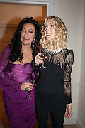 NANCY DELL D'OLIO; BASIA BRIGGS, Drinks party given by Basia and Richard Briggs,  Chelsea. London. SW3. 13 February 2014.