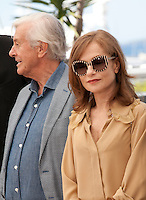Paul Verhoeven and  actress Isabelle Huppert at the Elle film photo call at the 69th Cannes Film Festival Saturday 21st May 2016, Cannes, France. Photography: Doreen Kennedy