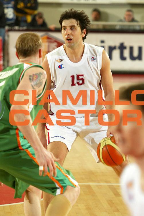 DESCRIZIONE : Roma Uleb Cup 2005-06 Lottomatica Virtus Roma Unics Kazan <br /> GIOCATORE : Bodiroga <br /> SQUADRA : Lottomatica Virtus Roma <br /> EVENTO : Uleb Cup 2005-2006 <br /> GARA : Lottomatica Virtus Roma Unics Kazan <br /> DATA : 31/01/2006 <br /> CATEGORIA : Palleggio <br /> SPORT : Pallacanestro <br /> AUTORE : Agenzia Ciamillo-Castoria/G.Ciamillo