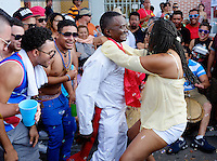 MIAMI - MARCH 9, 2014: People dancing in the streets during the 37th Calle Ocho festival, an annual event that takes place over Eight Street in Little Havana featuring plenty of music, food, and  it is the biggest party in town that celebrates hispanic heritage.