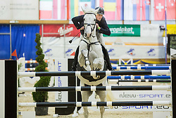Uros Kocbek of Slovenia with his horse Berlins Boy jumps during Equestrian competition  FEI Grand Prix World Cup Celje 2014, on November 30, 2014 in Equestrian Centre Celje, Slovenia. Photo by Vid Ponikvar / Sportida