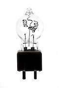 broken wire in a projector floodlight light bulb