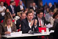 DEU, Deutschland, Germany, Berlin, 07.12.2017: Lars Klingbeil, designierter SPD-Generalsekretär, beim Bundesparteitag der SPD im CityCube.