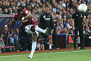 Yannick Bolasie of Aston Villa (11) crosses the ball during the EFL Sky Bet Championship match between Aston Villa and Rotherham United at Villa Park, Birmingham, England on 18 September 2018.