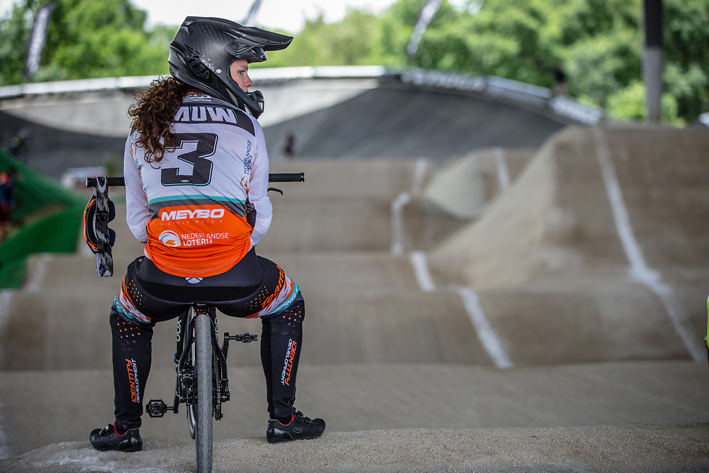 #3 (BAAUW Judy) NED at Round 5 of the 2019 UCI BMX Supercross World Cup in Saint-Quentin-En-Yvelines, France