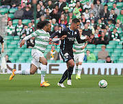 Dundee's Luka Tankulic and Celtic's Jason Denayer -  Celtic v Dundee - SPFL Premiership at Celtic Park<br /> <br /> <br />  - © David Young - www.davidyoungphoto.co.uk - email: davidyoungphoto@gmail.com