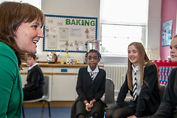 Pictured: Maree Todd<br /><br />Deputy First Minister John Swinney and minister for children and young people Maree Todd, joined students from Primary 7 of the Royal High Primary School in Edinburgh today at attend child safety assembly. <br /><br />Ger Harley | EEm 9 May 2019