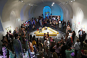 "Vienna. MuseumsQuartier (MQ Vienna) is celebrating its 10th year..Performance ""Thanx God"" by fashion collective LVMM..Where does fashion end and art begin? This question is at the center of the exhibition ""GET IN THE HAZE"" at freiraum quartier21 INTERNATIONAL. Curated by Lliure Briz (ESP) and opening on May 19, the show takes a close look at recognized fashion designers and artists who are not afraid of hybrid art forms."