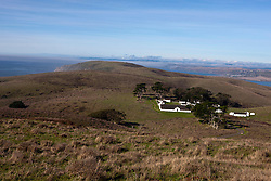 Aerial view of Pierce Point Ranch and Tomales Point, Point Reyes National Seashore, California, United States of America
