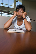 Bored African American Businesswoman