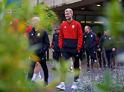 CARDIFF, WALES - Sunday, October 13, 2019: Wales' goalkeeper Adam Davies during a pre-match team walk at the Vale Resort ahead of the UEFA Euro 2020 Qualifying Group E match between Wales and Croatia. (Pic by David Rawcliffe/Propaganda)