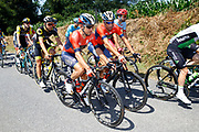Domenico Pozzovivo (ITA - Bahrain - Merida) - Vincenzo Nibali (ITA - Bahrain - Merida) during the 105th Tour de France 2018, Stage 6, Brest - Mur de Bretagne Guerledan (181km) in France on July 12th, 2018 - Photo Luca Bettini / BettiniPhoto / ProSportsImages / DPPI