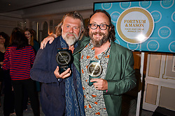 Dave Myers and Simon King at the 2017 Fortnum & Mason Food & Drink Awards held at Fortnum & Mason, Piccadilly London England. 11 May 2017.<br /> Photo by Dominic O'Neill/SilverHub 0203 174 1069 sales@silverhubmedia.com