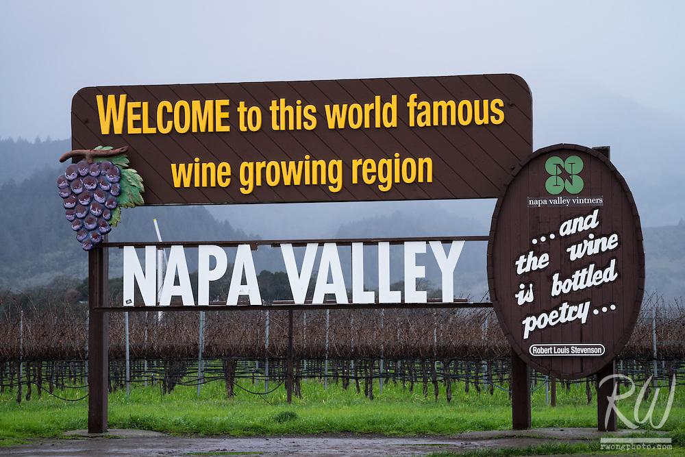 Welcome to Napa Valley Sign, Napa, California