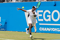 Tennis - 2017 Aegon Championships [Queen's Club Championship] - Day Three, Wednesday<br /> <br /> Men's Singles, Round of 16 -Viktor TROICKI (SRB) Vs Donald YOUNG (USA)<br /> <br /> Donald Young (USA) stretches to reach a return at Queens Club<br /> <br /> <br /> COLORSPORT/DANIEL BEARHAM