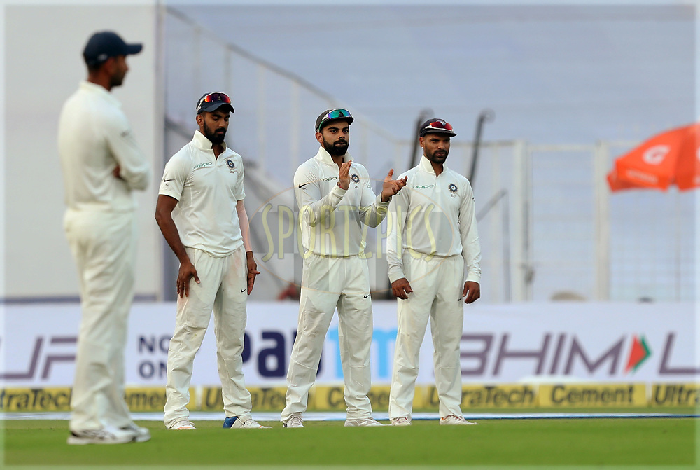 Virat Kohli captain of India during day five of the 1st test match between India and Sri Lanka held at Eden Gardens Stadium in Kolkata on the 20th November 2017Photo by Prashant Bhoot / BCCI / Sportzpics