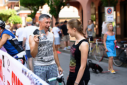 Delighted with his Anna van der Breggen autograph at Giro Rosa 2016 - Stage 6. A 118.6 km road race from Andora to Alassio, Italy on July 7th 2016.
