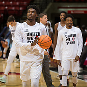 10 November 2017:  The San Diego State Aztecs men's basketball team opens up the season against San Diego Christian. The Aztecs beat the Hawks 91-52 at the half.<br /> www.sdsuaztecphotos.com