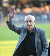 Dens legend Alan Gilzean salutes the crowd at half time - Dundee v Hearts, preseason friendly at Dens Park<br /> <br />  - &copy; David Young - www.davidyoungphoto.co.uk - email: davidyoungphoto@gmail.com