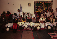 Albania. Shkoder. The Rufais, one of the ten Muslim sect in Albania, Dervish and Sufism., are singing Allah name     Albania      /   les Rufais , secte musulmane:, les fidèles psalmodient le nom d'Allah un peu comme les derviches    Albanie    /  R00034/2    L0006276  /  R00034  /  P0001339