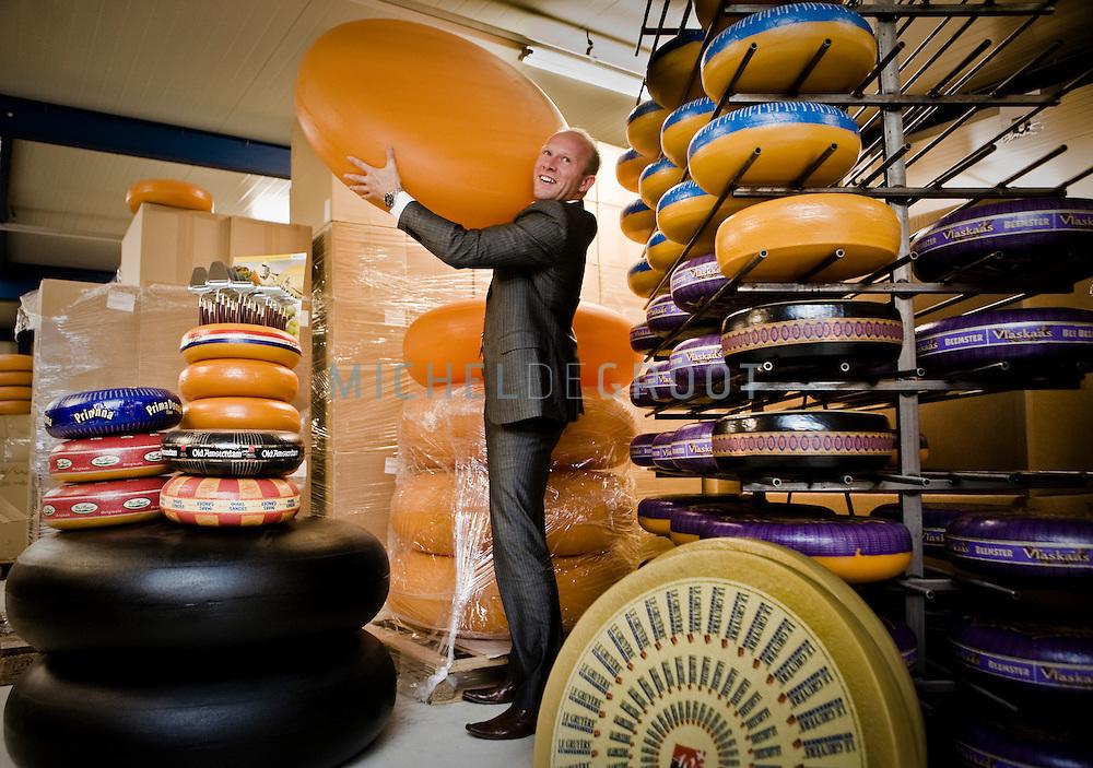 BODEGRAVEN, THE NETHERLANDS, February 10, 2010 Martijn Bos directeur Boska holland bij de dummy kazen die oa. bij Boska worden geproduceerd (photo by Michel de Groot)