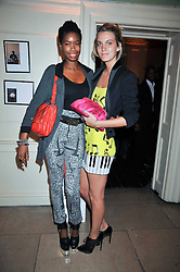 Left to right, TOLULA ADEYEMI and GEORGIE MCINTYRE at the launch of Quintessentially Soho at the House of St Barnabas, 1 Greek Street, London on 29th September 2009.<br /> <br /> <br /> <br /> <br /> BYLINE MUST READ: donfeatures.com<br /> <br /> *THIS IMAGE IS STRICTLY FOR PAPER, MAGAZINE AND TV USE ONLY - NO WEB ALLOWED USAGE UNLESS PREVIOUSLY AGREED. PLEASE TELEPHONE 07092 235465 FOR THE UK OFFICE.*
