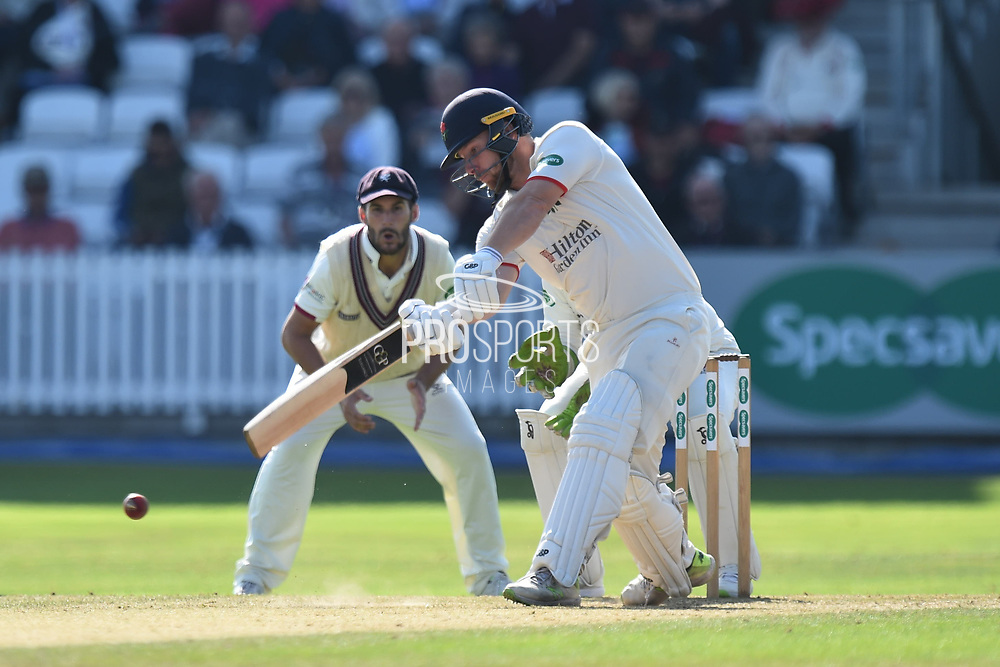 Steven Croft of Lancashire batting during the Specsavers County Champ Div 1 match between Somerset County Cricket Club and Lancashire County Cricket Club at the Cooper Associates County Ground, Taunton, United Kingdom on 5 September 2018.