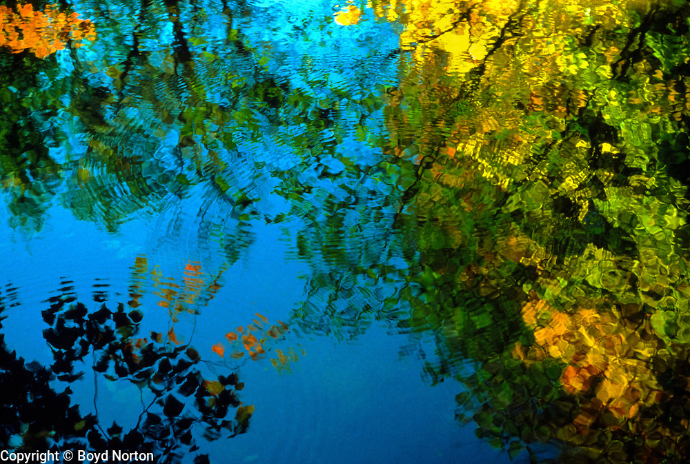 Autumn reflections, New Hampshire
