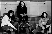 Fall River, Massachusetts - 18 February 1968. (Left to right) Jimmy Carl Black, Ray Collins, and Ian Underwood of the Mothers of Invention backstage prior to a performance. © 2020 Ed Lefkowicz<br /> <br /> For licensing of any of the images in this portfolio go to https://www.mptvimages.com/<br /> <br /> For fine art prints, get in touch with me directly.