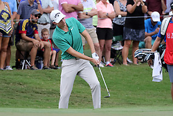 September 22, 2018 - Atlanta, GA, U.S. - ATLANTA, GA - SEPTEMBER 22:     Aaron Wise chips onto the second green during the third round of the Tour Championship on September 22, 2018, at East  Lake Golf Club in Atlanta, GA.  (Photo by Michael Wade/Icon Sportswire) (Credit Image: © Michael Wade/Icon SMI via ZUMA Press)