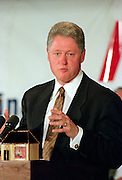 US President Bill Clinton addresses the National Jewish Democratic Council November 2, 1995 in Washington, DC.